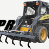 Skid Steer Equipped With Ripper Attachment