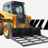 Skid Steer Equipped with Land Leveler