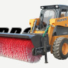 Skid Steer Equipped With Angle Broom