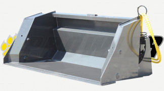 High Dump Bucket Front View