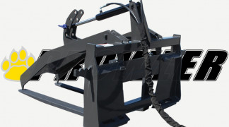 Pallet Fork Grapple Rear View