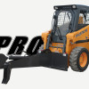 Skid Steer Equipped With Backhoe