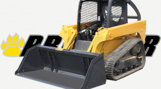 Track Loader with Snow Litter Bucket