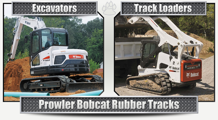 Bobcat Replacement Rubber Tracks for Track Loaders and Excavators