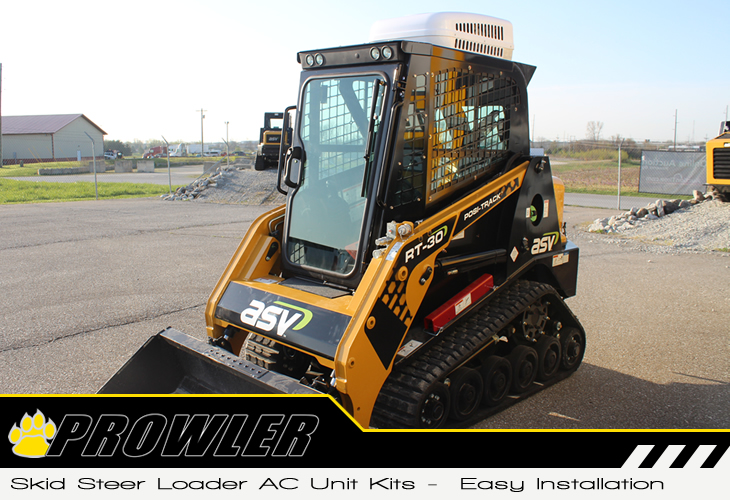 ac unit skid steer loader