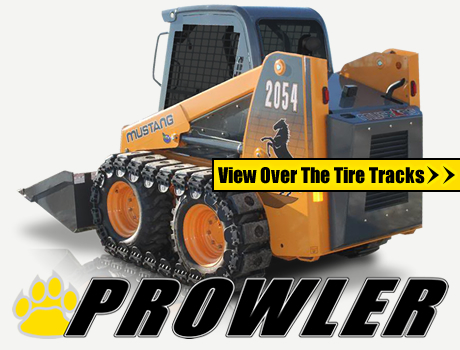Prowler Skid Steer Over The Tire Tracks