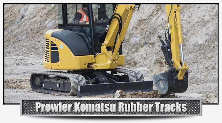 Prowler Rubber Tracks For Komatsu Excavators And CTL Track