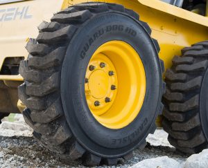 Guard Dog HD Tire on Skid Steer