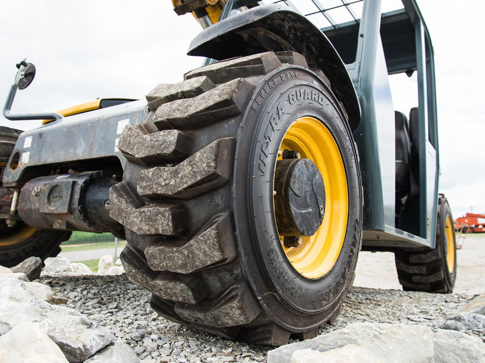 Ultra Guard Tire on Skid Steer