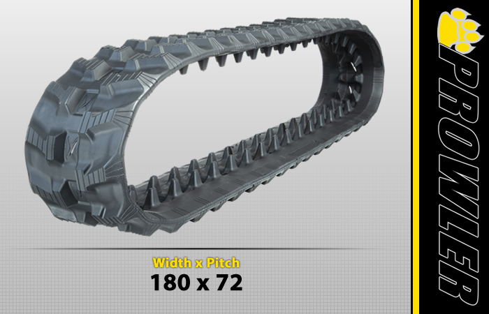180x72 Rubber Track Tread Style