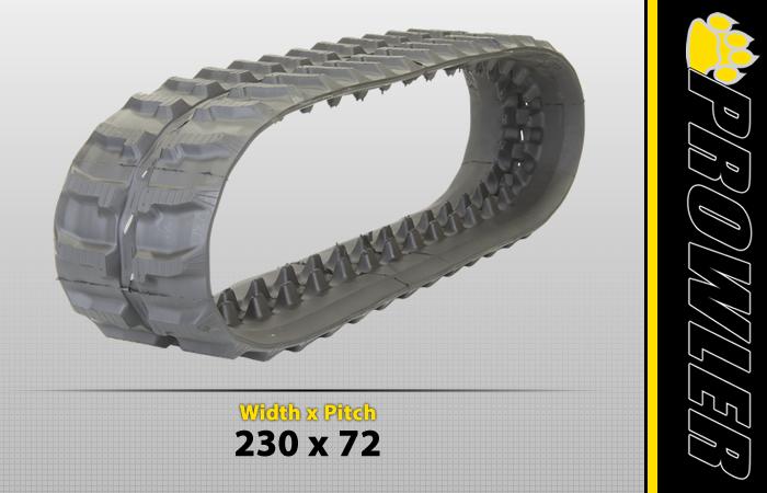 230x72 Rubber Track Tread Style