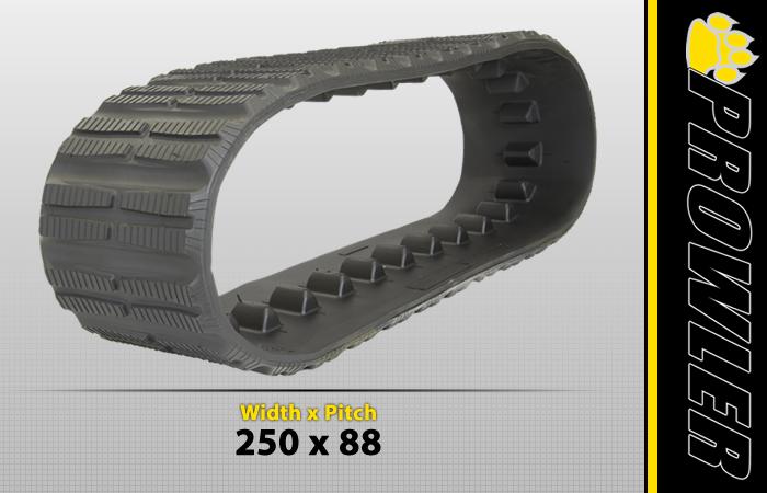 250x88 Rubber Track Tread Style