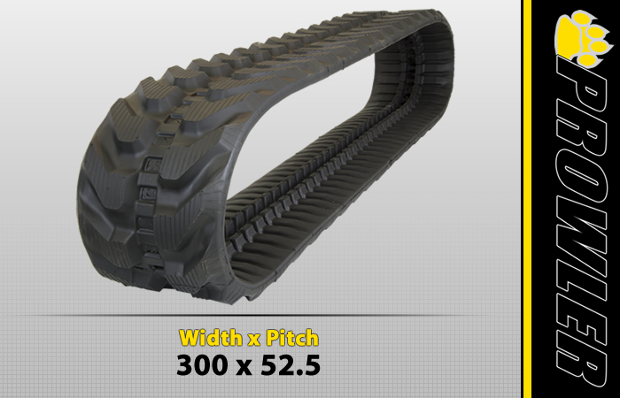 300x52.5 Excavator Rubber Track