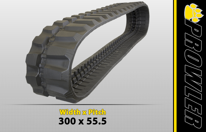 300x55.5 Offset Excavator Rubber Track