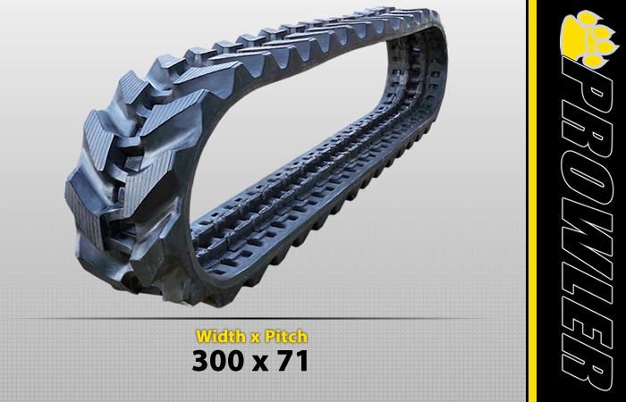 300x71 Rubber Track Tread Style