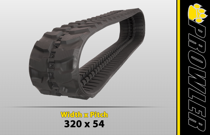 320x54 Excavator Rubber Track