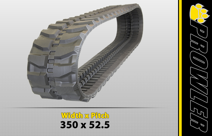 350x52.5 Excavator Rubber Track
