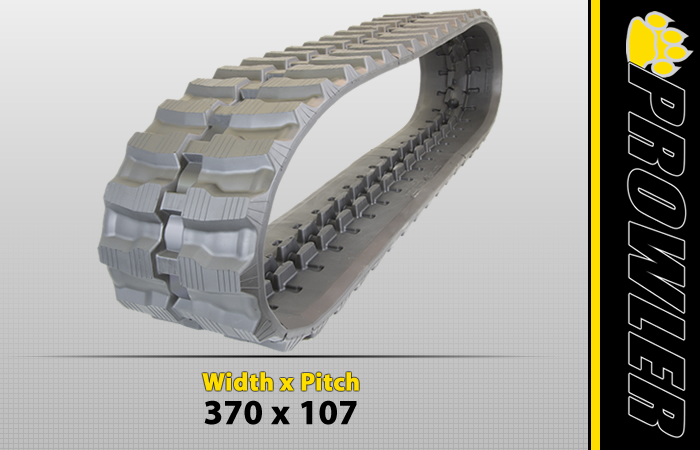370x107 Excavator Rubber Track Tread Design