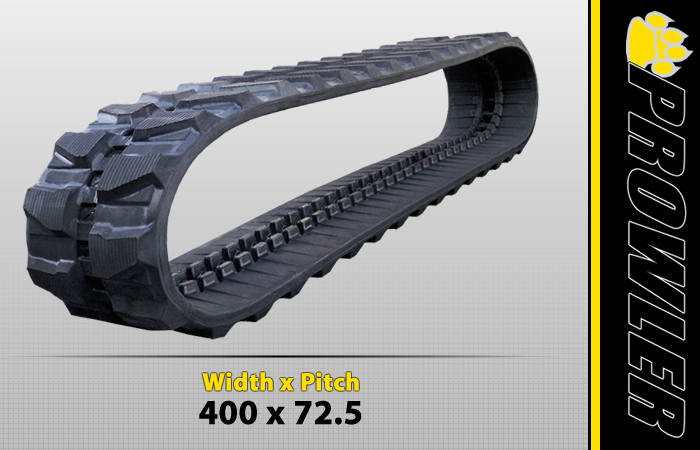 400x72.5 Excavator Rubber Track Tread Design