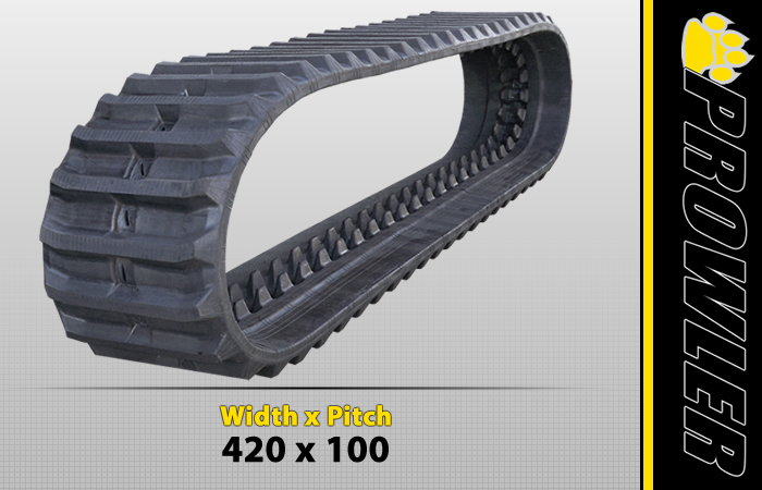 420x100 Excavator Rubber Track Tread Design