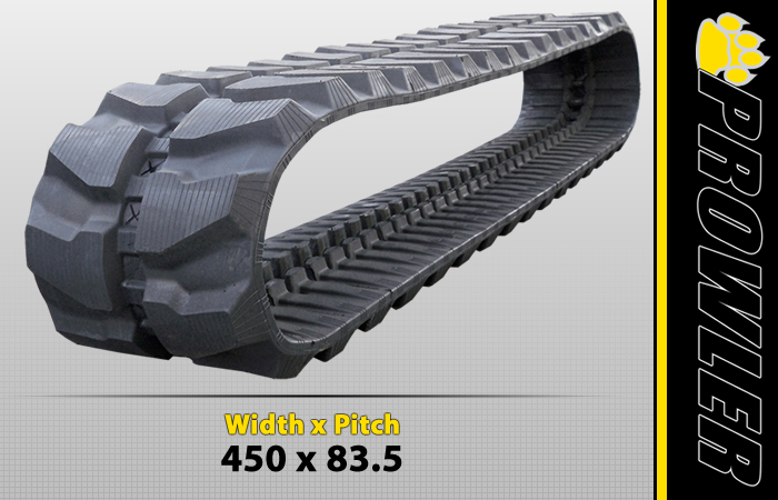 450x83.5 Excavator Rubber Track Tread Design