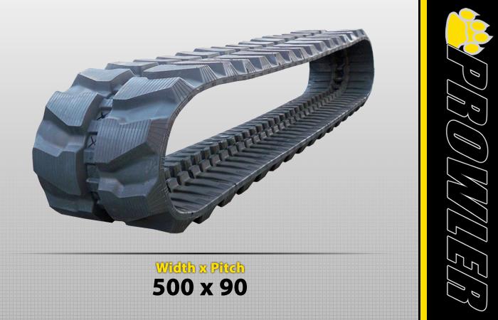500x90 Rubber Track Tread Style