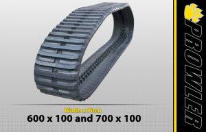 600x100 Rubber Track Tread Style