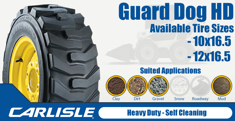 Carlisle Guard Dog HD Skid Steer Tire