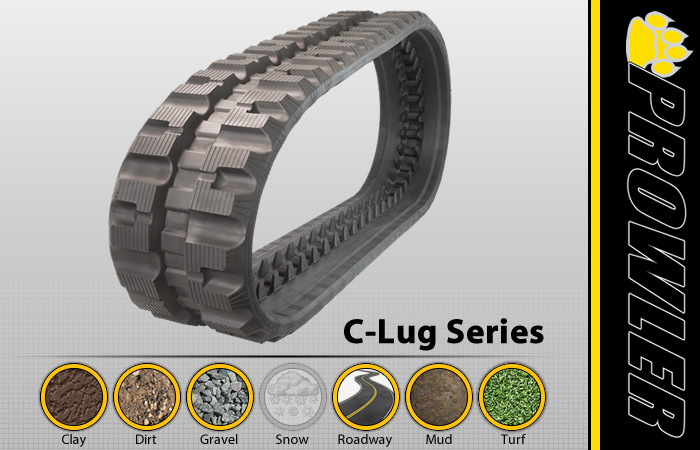 C-Lug CTL Rubber Track Tread Design