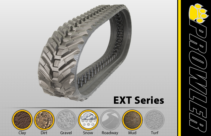 EXT CTL Rubber Track Tread Design