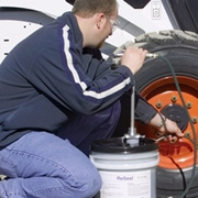 How to seal skid steer tires