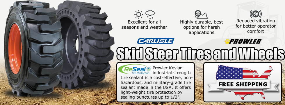 Skid Steer Tires and Wheels