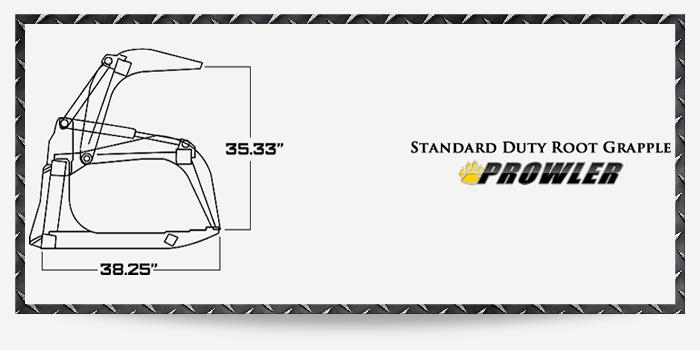 Standard Duty Root Grapple Specs