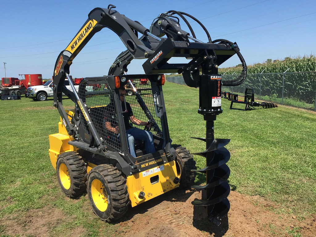 Skid Steer With Auger Drive