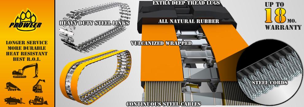 Prowler Preimum Grade Rubber Track Design